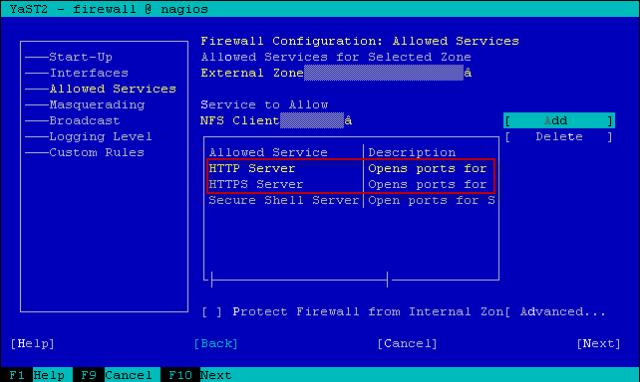 service HTTP dan HTTPS yang di allow